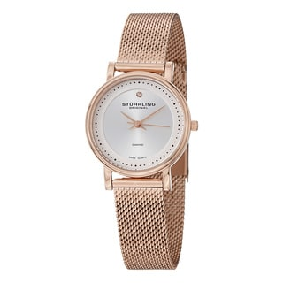 Stuhrling Original Women's Lady Casatorra Elite Diamond Swiss Quartz Bracelet Bracelet Watch