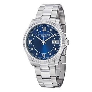 Stuhrling Original Men's Nautic Blue/Silver Swiss Quartz Bracelet Watch