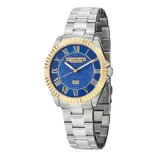 Stuhrling Original Women's Shimmer Swiss Quartz Bracelet Watch with Blue Dial