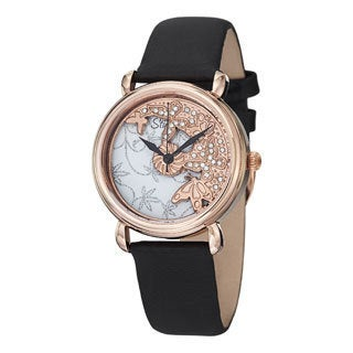 Stuhrling Original Women's Jezebel Warer-resistant Swiss Quartz Leather-strap Watch