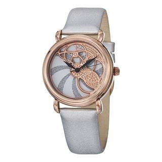 Stuhrling Original Women's Pirouette Swiss Quartz White Strap Watch