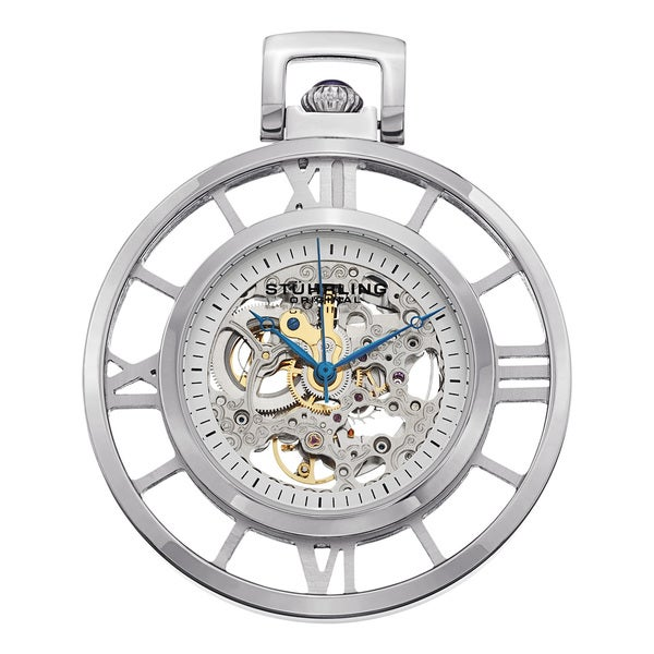 stuhrling original s ancestor silver mechanical pocket