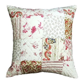 'Jasmine' Traditonal Patchwork Throw Pillow