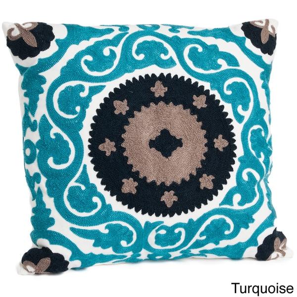 Suzani Design Down Fill Throw Pillow
