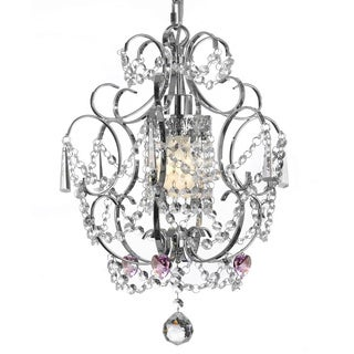 Gallery Chrome/ Crystal Pink Heart Chandelier