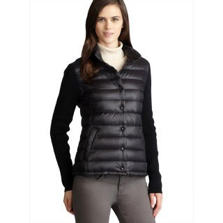 Shop Calvin Klein Premium Down Ribbed Knit Sleeve Puffer