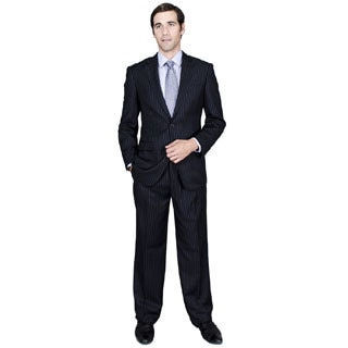 Navy Stripe 2-Button Suit