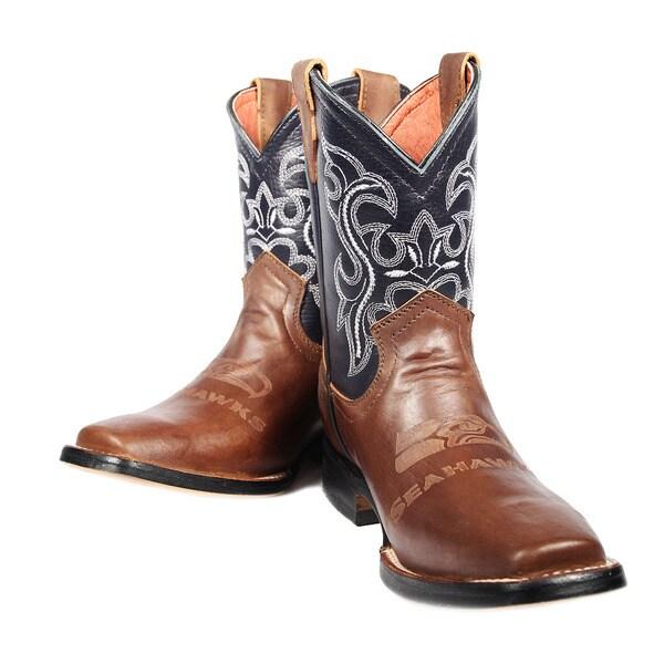 Seattle Seahawks Junior Western Boots
