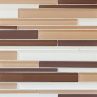 Martini Mosaic 12.75x14.25 Strada Iced Mocha Tile (Pack of 6)