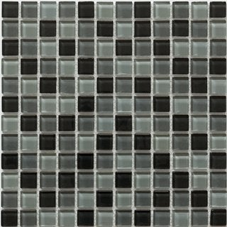 Martini Mosaic Piazza Volcanic Ash (Set of 10)