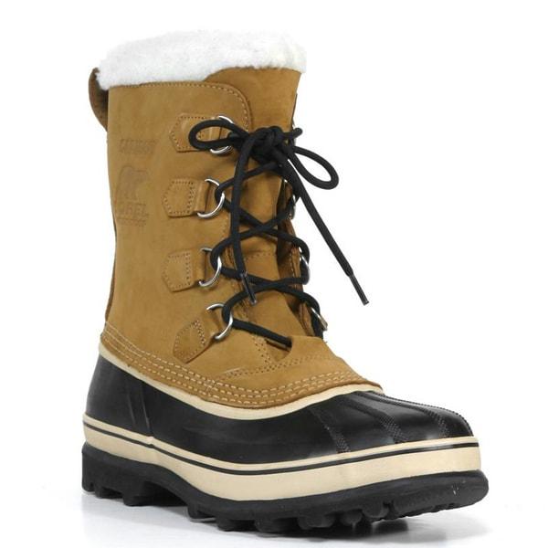 Sorel Men's 'Caribu' Buff Nubuck Leather Cold Weather Boots