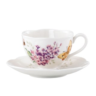 Lenox Butterfly Meadow Orange Sulphur Cup and Saucer
