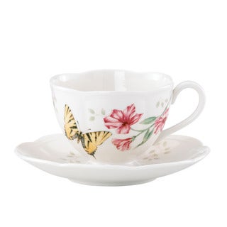 Lenox Butterfly Meadow Tiger Swallowtail Cup and Saucer