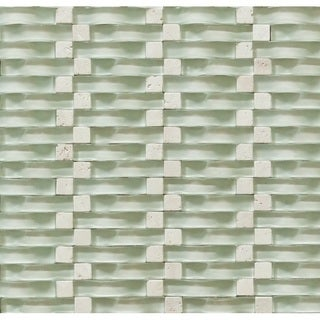 Martini Mosaic 12x12 Vento Mystic Sea Tile Sheets (Pack of 5)