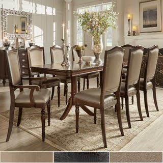 LaSalle Espresso Pedestal Extending Table Dining Set by iNSPIRE Q Classic|https://ak1.ostkcdn.com/images/products/8504237/P15789207.jpg?impolicy=medium