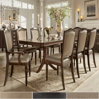 traditional dining room set. LaSalle Espresso Pedestal Extending Table Dining Set by iNSPIRE Q Classic Traditional Room Sets For Less  Overstock com