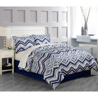 Chevron 8-piece Bed in a Bag with Sheet Set