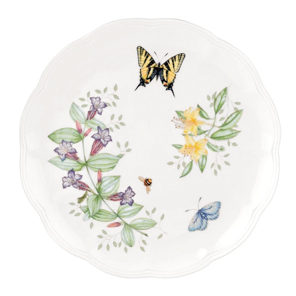 Lenox Butterfly Meadow Tiger Swallowtail 10.75-inch Dinner Plate  sc 1 st  Overstock : overstock dinner plates - pezcame.com