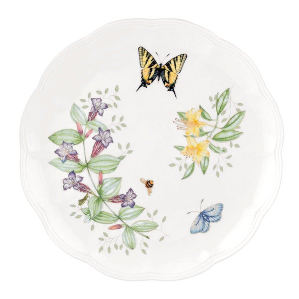 Lenox Butterfly Meadow Tiger Swallowtail 10.75-inch Dinner Plate