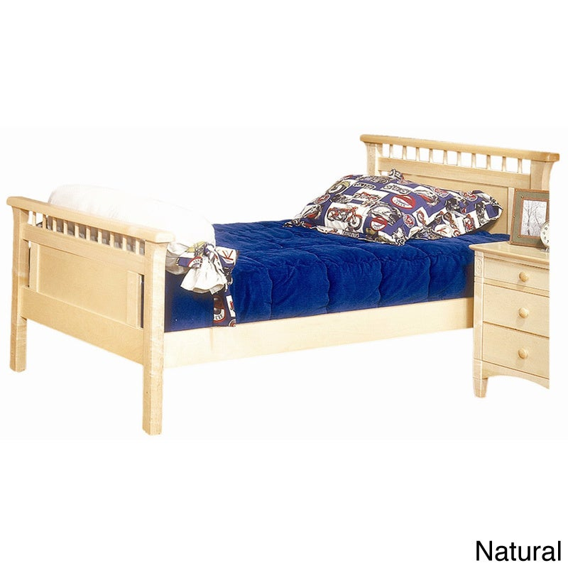 Bolton Bennington Twin-size Bed (Natural), Brown