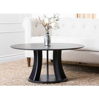 ABBYSON LIVING Cosmo Espresso Wood Round Coffee Table