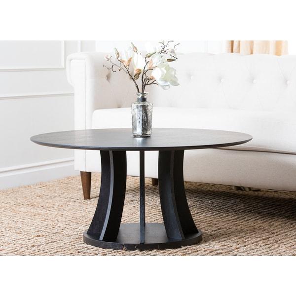 espresso round coffee table. scroll to next item. abbyson cosmo