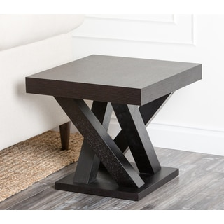 Abbyson Cosmo Espresso Wood End Table
