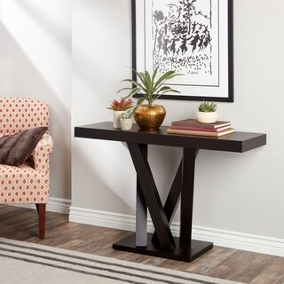Abbyson Cosmo Espresso Wood Sofa Table