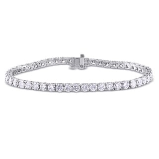 Miadora Signature Collection 14k White Gold 6ct TDW Diamond Tennis Bracelet