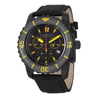 Stuhrling Original Men's Black Felucca Strap Watch