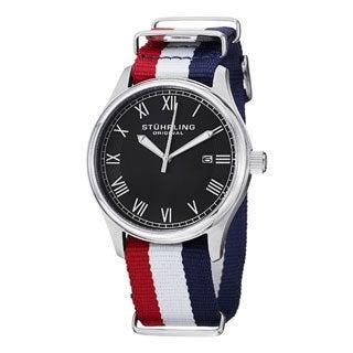 Stuhrling Original Men's Liberty Quartz Strap Watch with Buckle Clasp