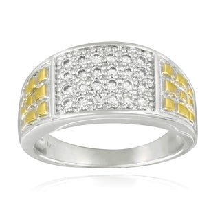 Icz Stonez Two-tone Cubic Zirconia Men's Ring