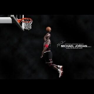 INSTEN NBA Michael Jordan Away Black Jersey 1:6 Figure with Air Jordan I/ XIII