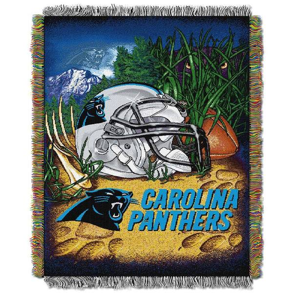 NFL Carolina Panthers Woven Tapestry Throw