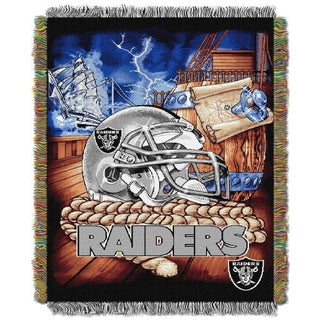 NFL 051 Dolphins Helmet Woven Tapestry Throw (Option: Oakland Raiders)