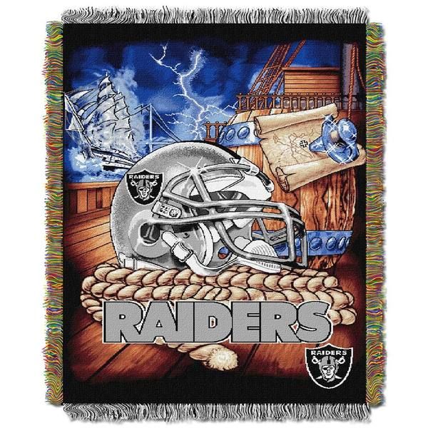 NFL Oakland Raiders Woven Tapestry Throw