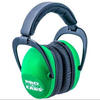 Pro Ears NRR 26 Ultra Sleek Neon Green Hearing Protection Ear Muffs