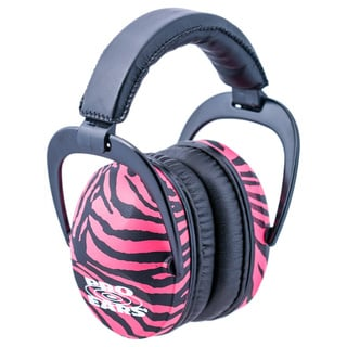 Pro Ears NRR 26 Ultra Sleek Pink Zebra Hearing Protection Ear Muffs