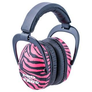 Pro Ears NRR 26 Ultra Sleek Pink Zebra Hearing Protection Ear Muffs