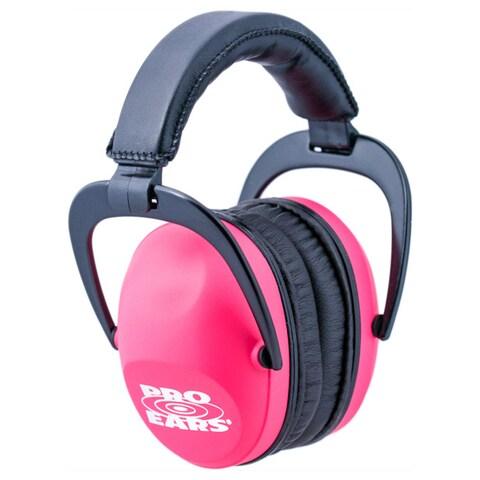 Pro Ears NRR 26 Ultra Sleek Pink Hearing Protection Ear Muffs