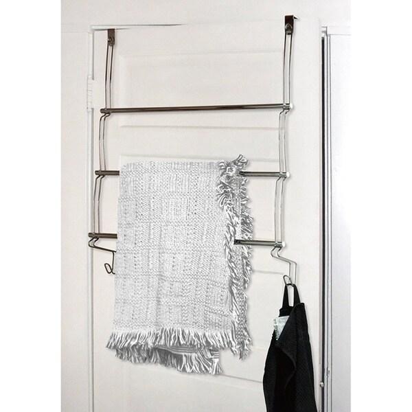 Over The Door 3 Tier Towel Rack Free Shipping On Orders Over 45 Overstock Com 15789470