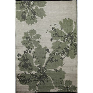b.b.begonia Boca Reversible Design Green and Brown Outdoor Area Rug (4' x 6')