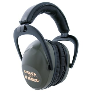 Pro Ears NRR 26 Ultra Sleek Green Hearing Protection Ear Muffs