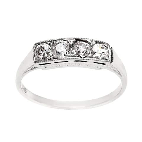 14k White Gold 2/5ct TDW Antique Diamond Band Ring (H-I, SI1-SI2)