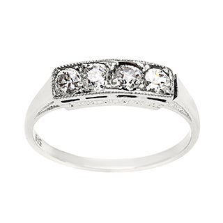 Pre-owned 14k White Gold 2/5ct TDW Antique Diamond Band Ring (H-I, SI1-SI2)|https://ak1.ostkcdn.com/images/products/8504620/P15789573.jpg?_ostk_perf_=percv&impolicy=medium