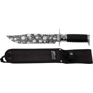 14-inch Mastery Cutlery Fixed Blade Skull Camo Knife