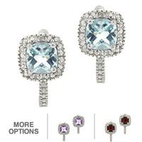 Glitzy Rocks Gemstone and Diamond Accent Earrings