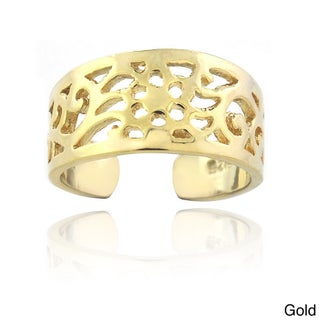 Mondevio Sterling Silver Toe Ring (Option: Gold-Tone)