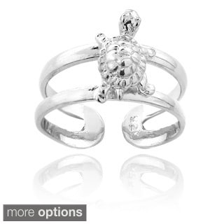 Mondevio Sterling Silver Turtle Toe Ring