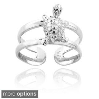 Mondevio Sterling Silver Turtle Toe Ring